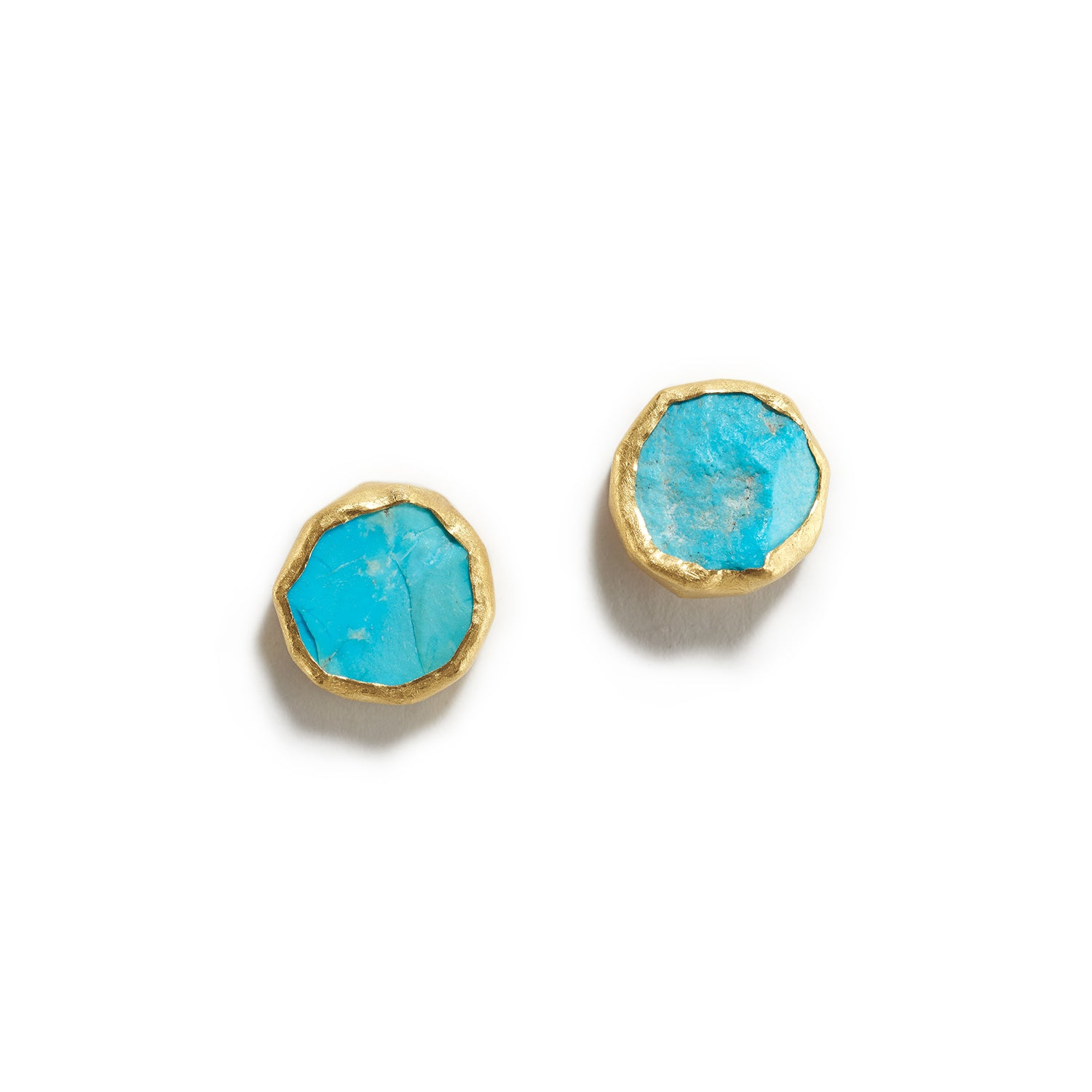 Rough Turquoise Stud Earrings