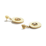 Oblong Discs with Diamond Earrings