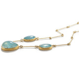 Necklace with Aqua Globes