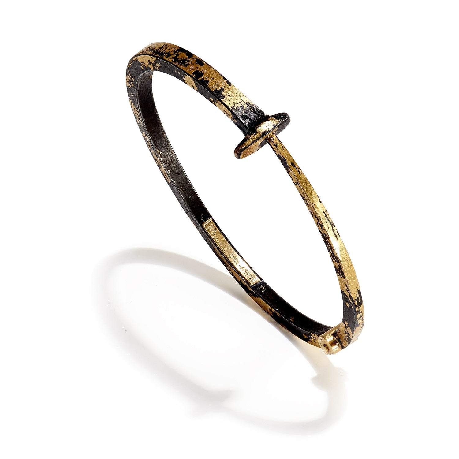 Men's 22K Gold Dust Nail Bracelet