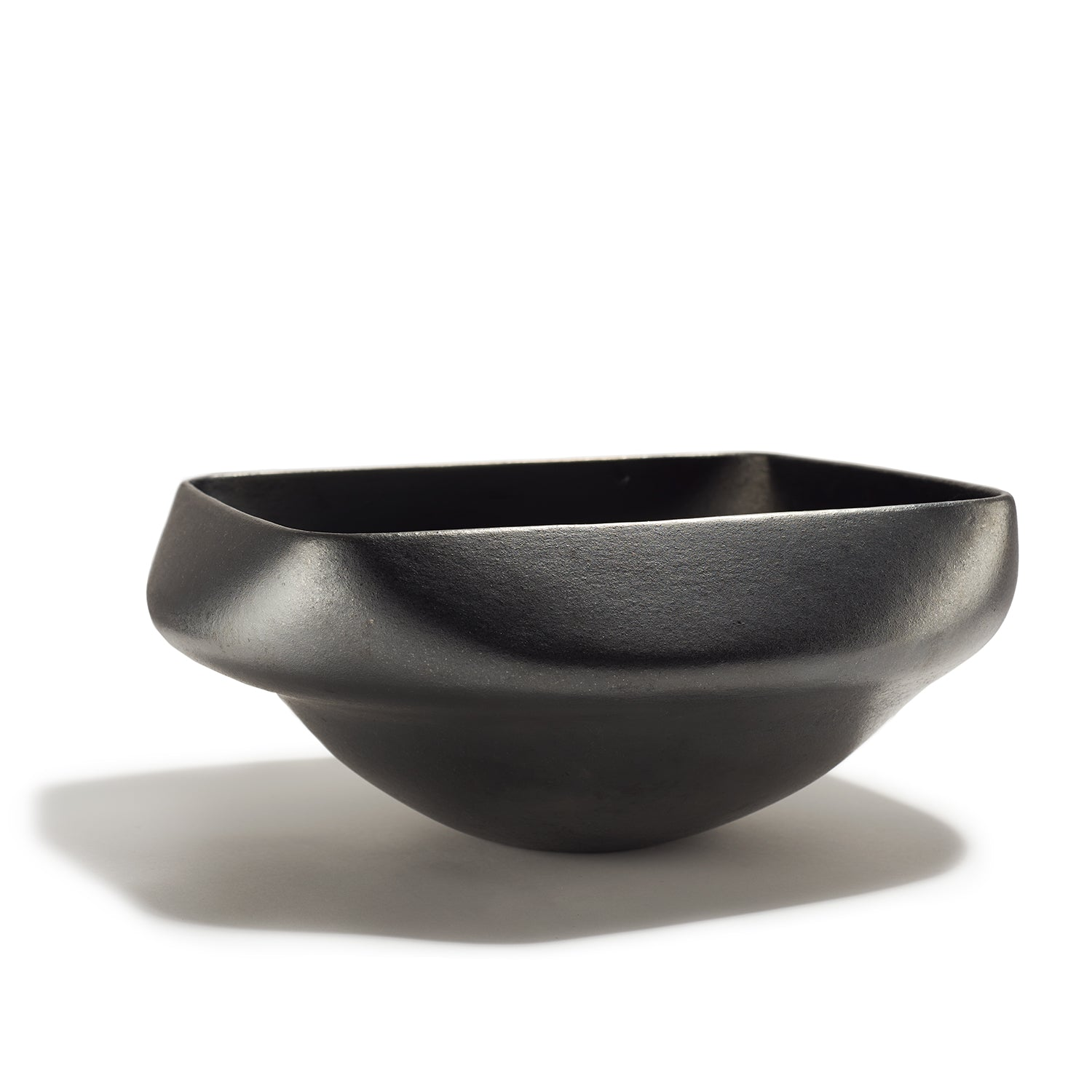 Square Gun Metal Gray Bowl