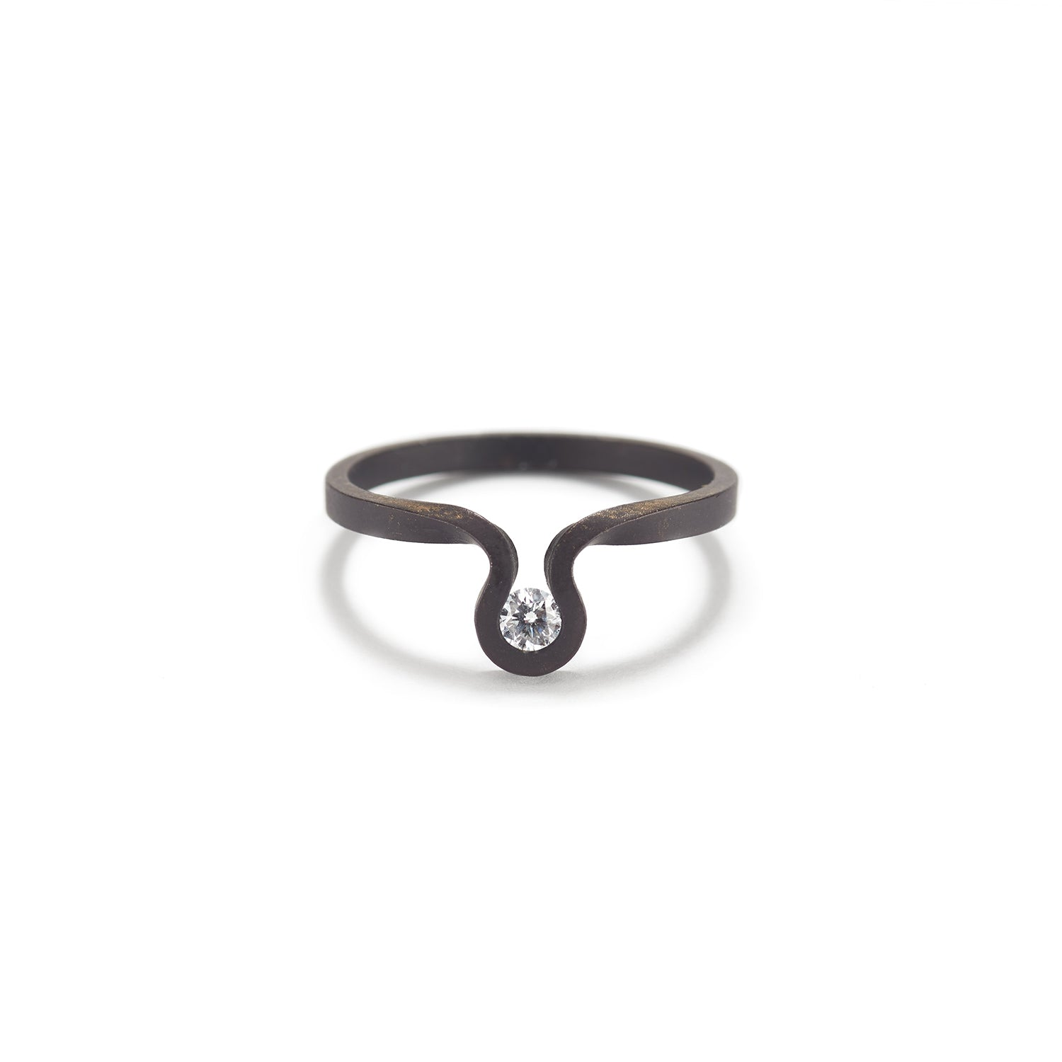 Swing Ring with Diamond~1.8mm
