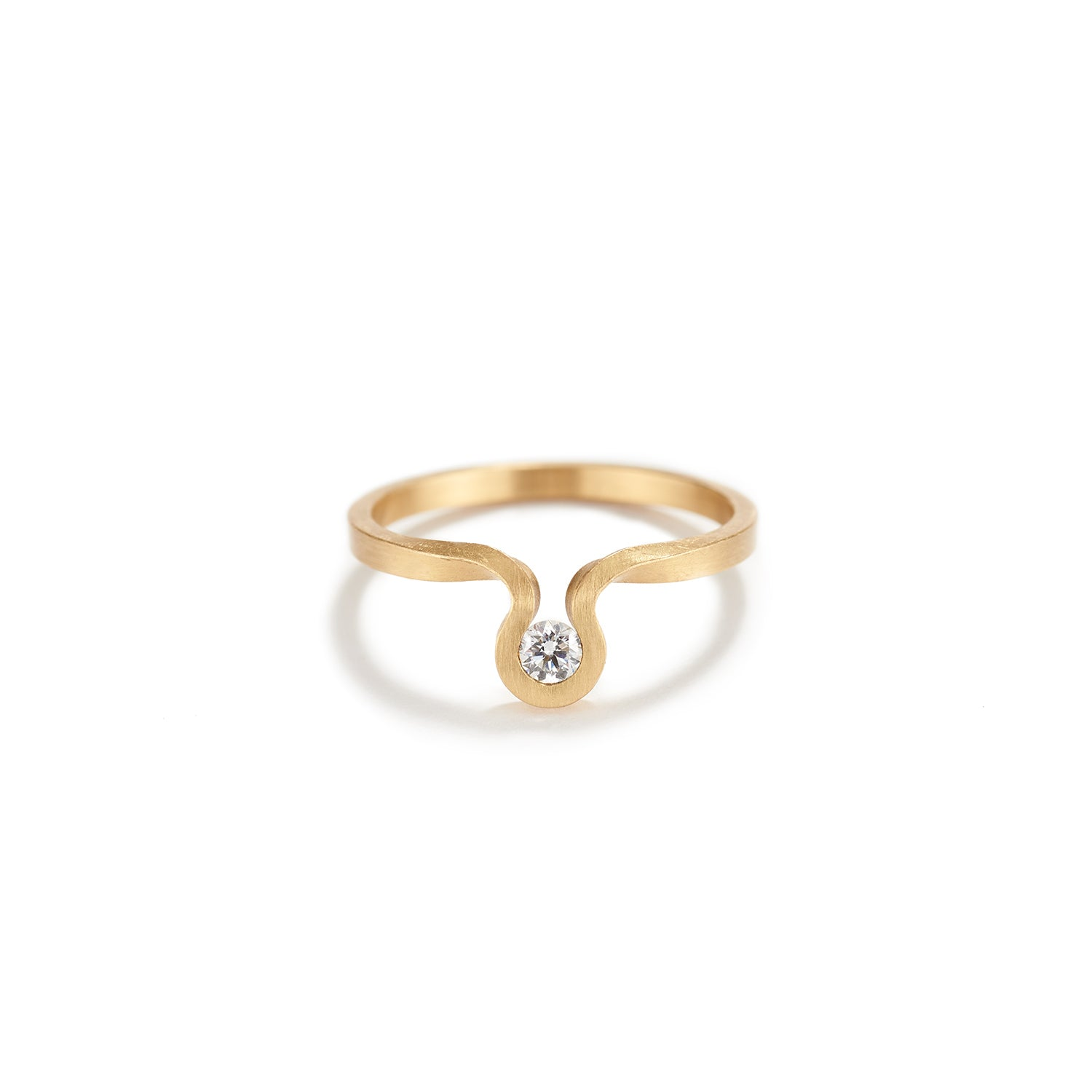 Gold Swing Ring with Diamond~1.5mm