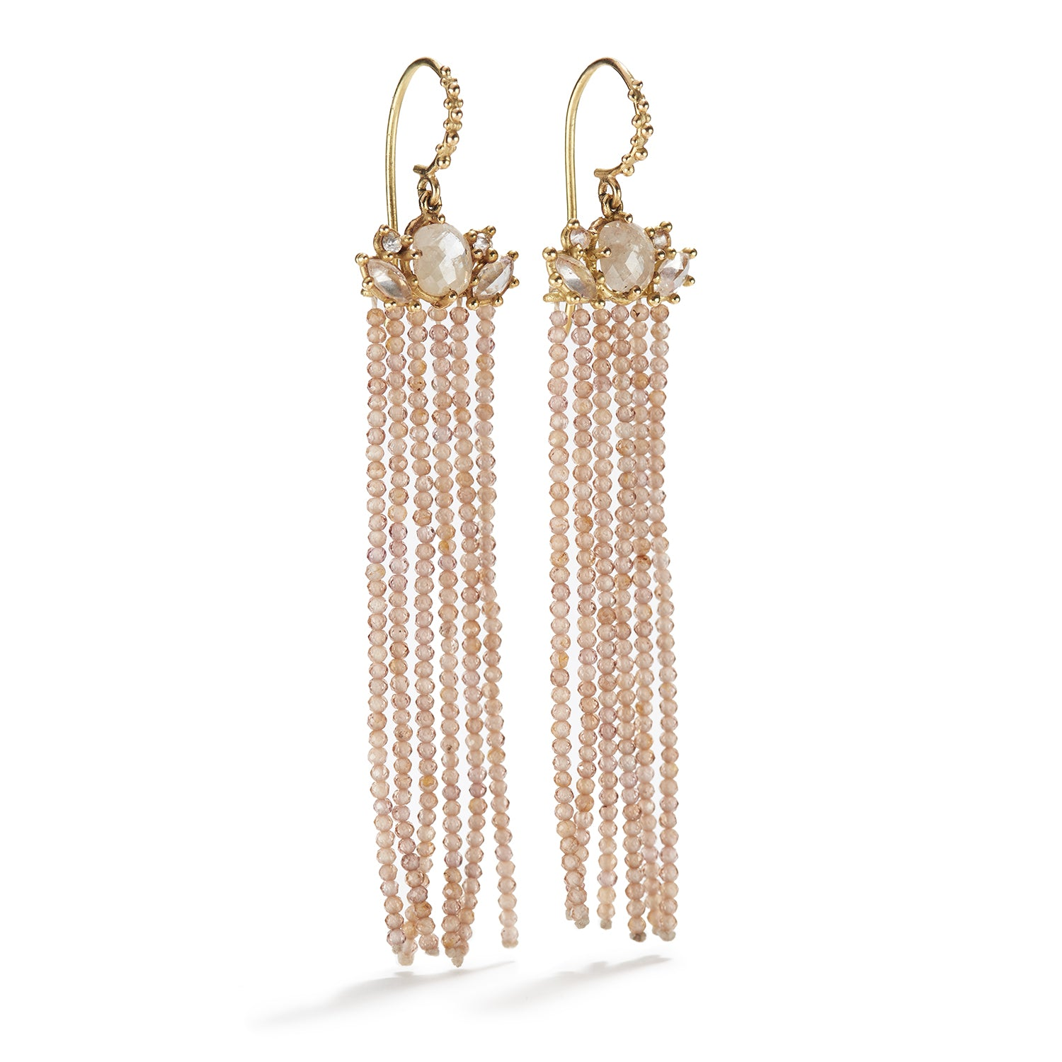 Volant Earrings with Nude Zircon
