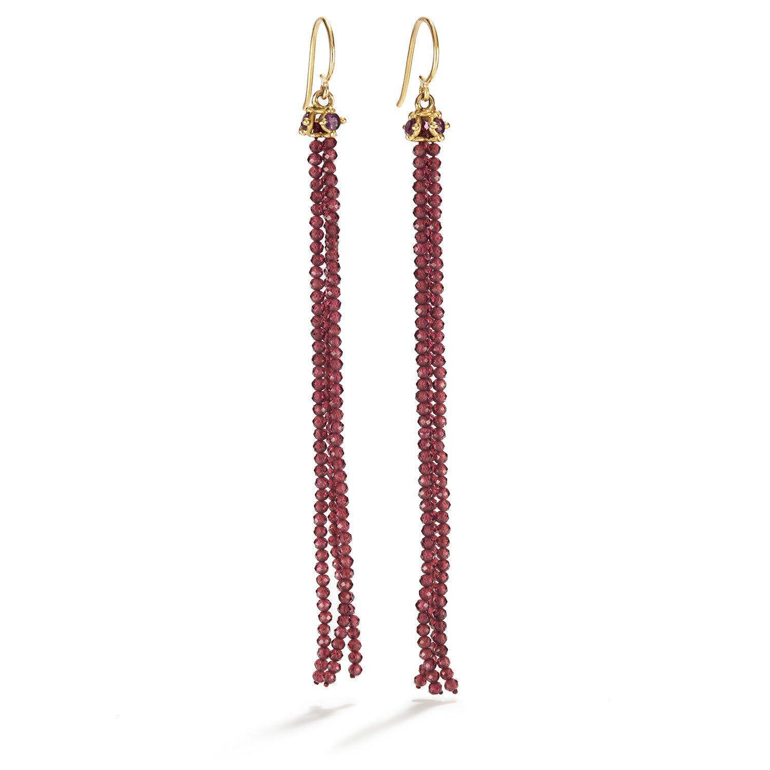 Burlesque Burgundy Garnet Earrings