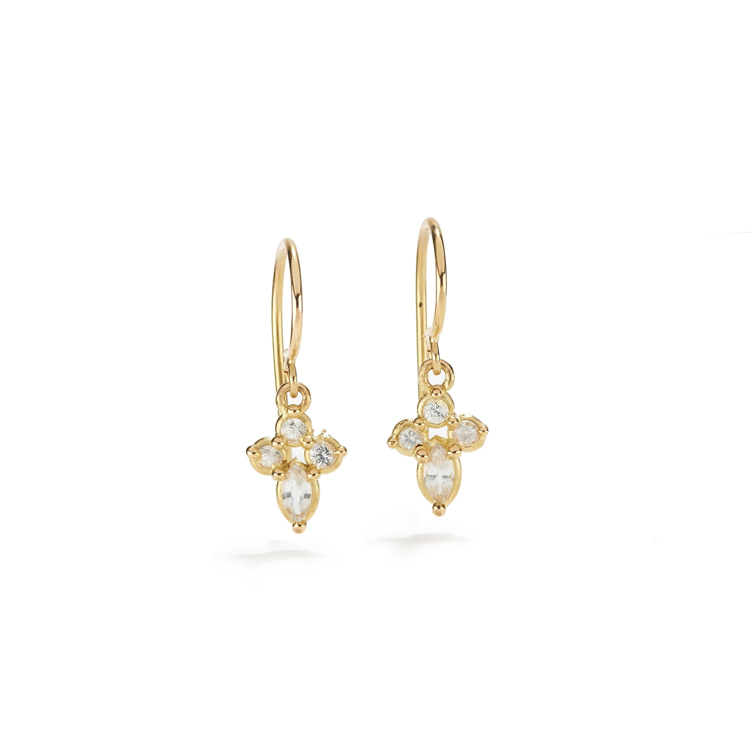 King Lily Earrings with White Sapphire
