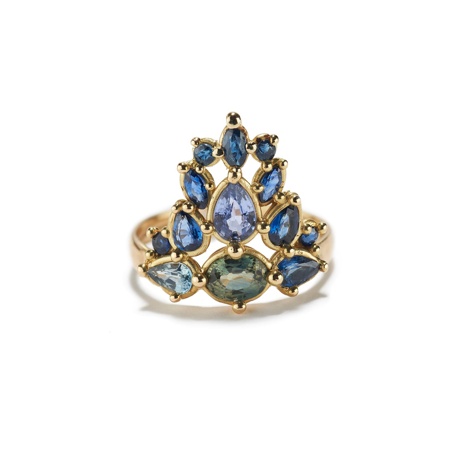 Tiara Ring with Blue Sapphire
