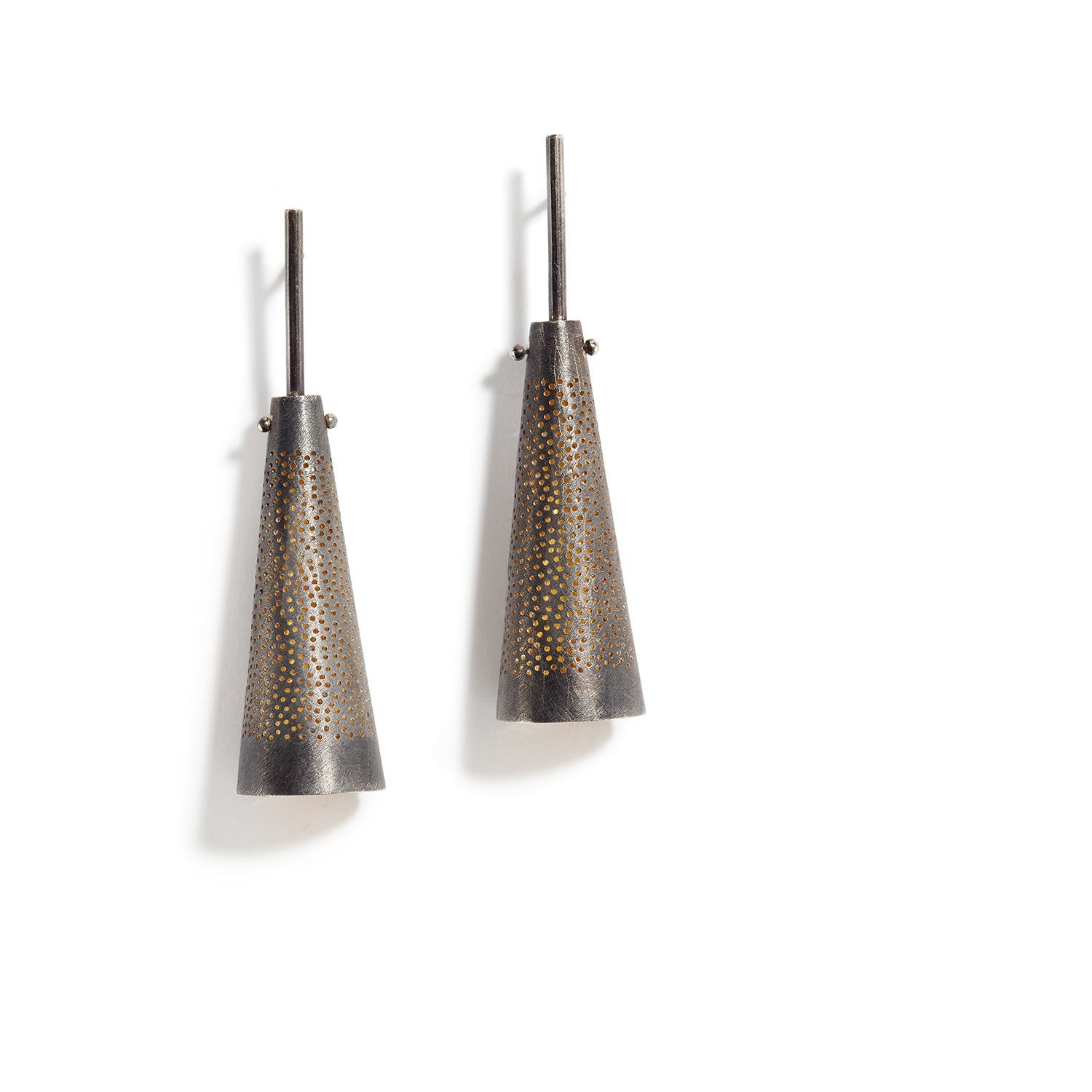 Perforated Cone Earrings