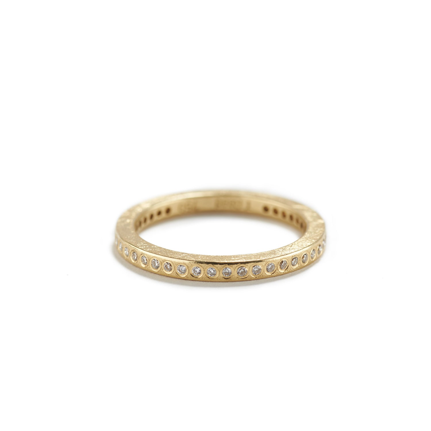 Gold Eternity Band with Diamonds