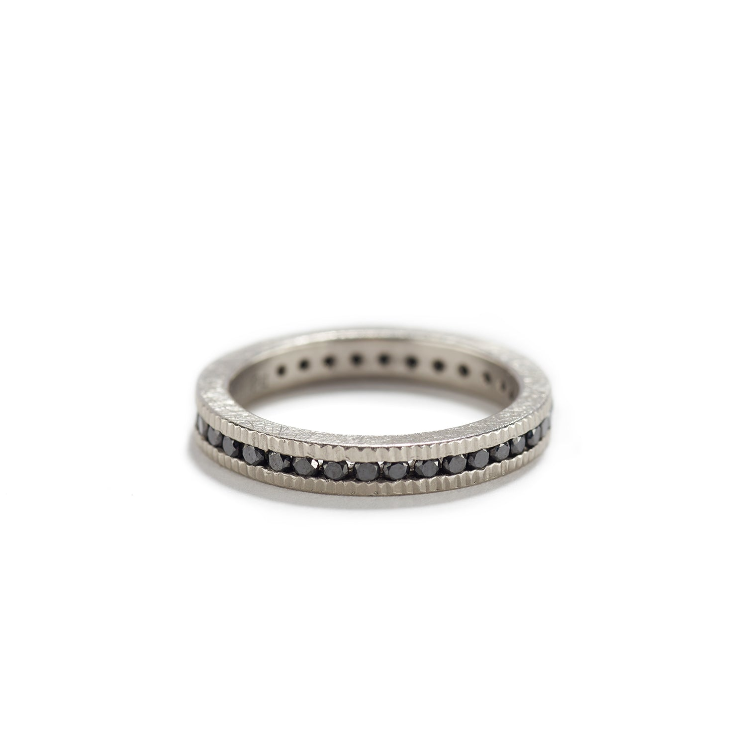 Eternity Band with Black Diamonds