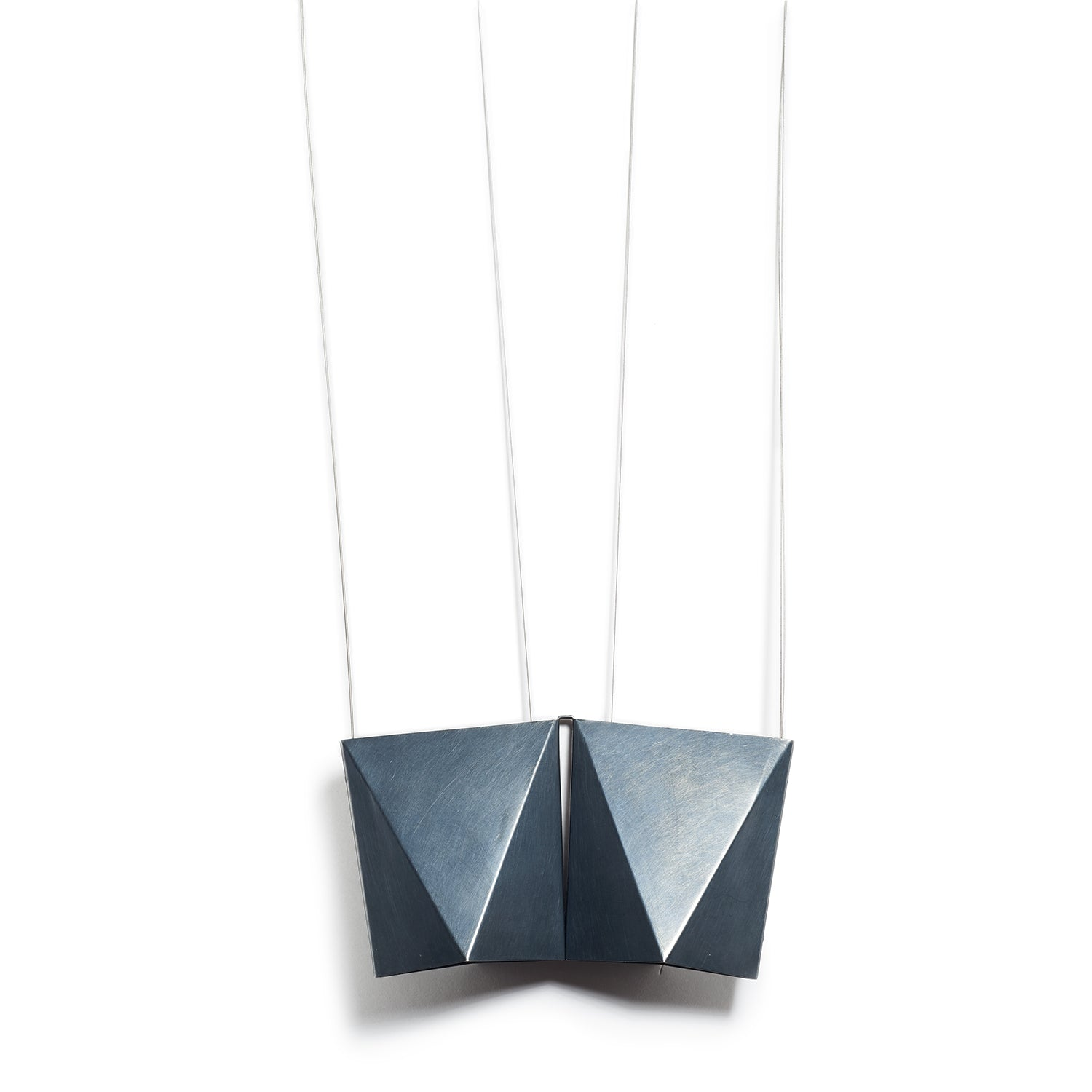 Double Triangle Silver Pendant