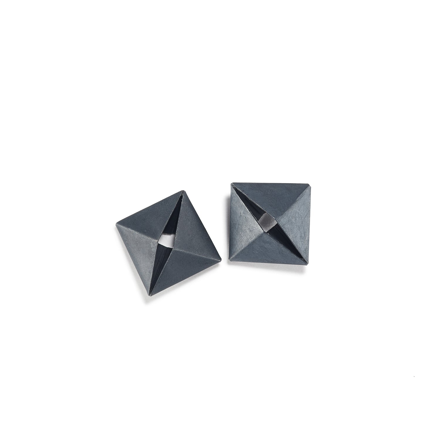 Open Fold Square Earrings
