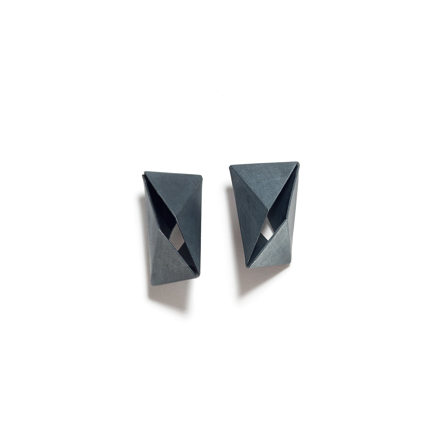 Open Fold Rectangle Earrings
