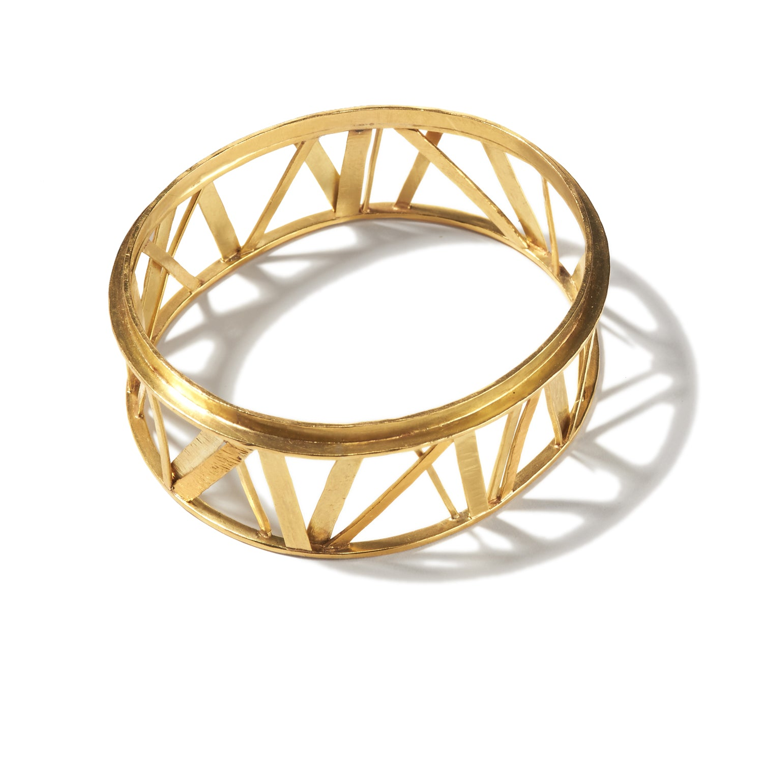 Bridge Crossing Gold Bangle