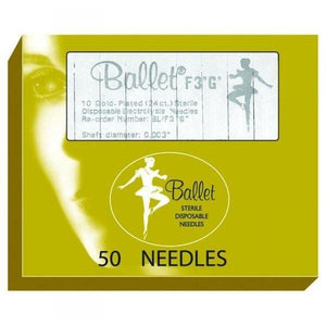 Depilatory - Ballet Gold Electrolysis Needles - Breizh Esthetic & Salon Supply