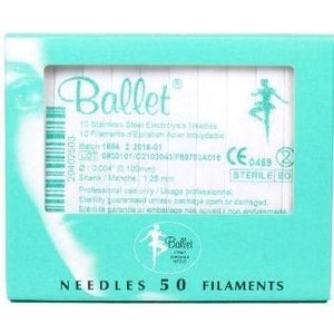 Depilatory - Ballet Stainless Steel Electrolysis Needles - Breizh Esthetic & Salon Supply