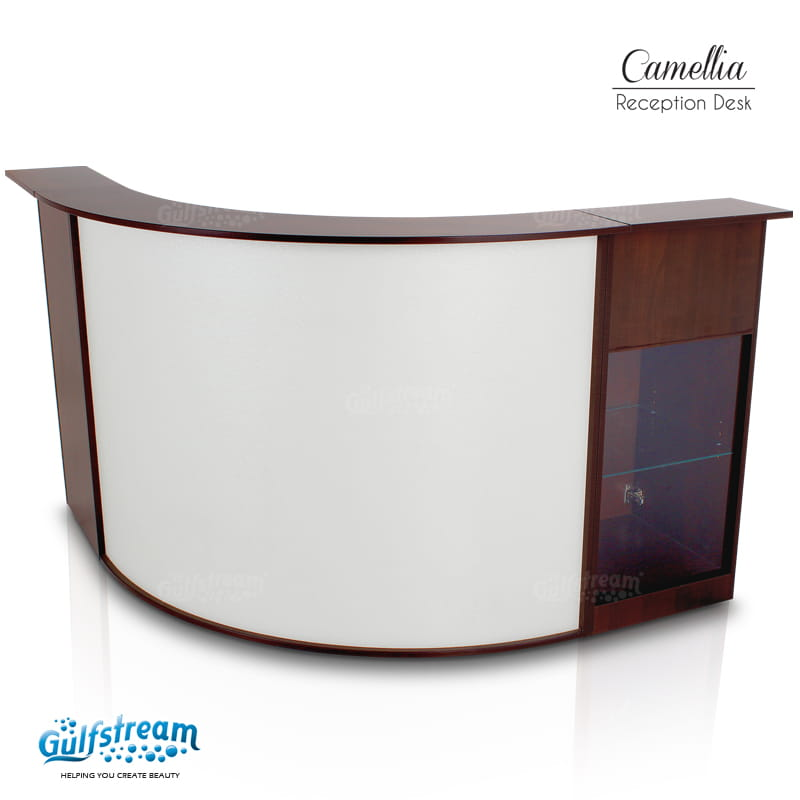 Gulfstream- Camellia Reception Desk -Salon Furniture