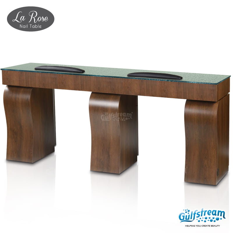 Gulfstream- La Rose Double Nail Table -Salon Furniture