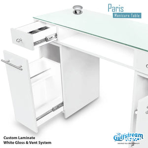 Gulfstream- Paris Double Nail Table -Salon Furniture