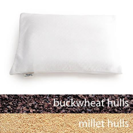 Pillow -Travel Pillow, Buckwheat/Millet Fill, Bucky Brand