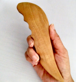 Massage Tool/Gua Sha Tool - Long Half Paddle with Ridges