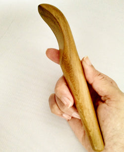 Massage Tool/Gua Sha Tool - Wood, Scoop Shaped
