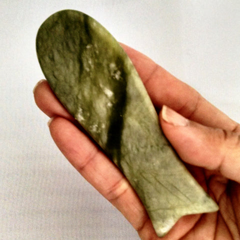 Massage Tool/Gua Sha Tool - Jade, Fish Shaped