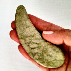 Massage Tool/Gua Sha Tool - Jade, Crescent Shaped
