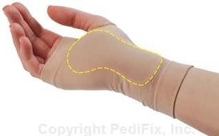 Hand Health - Wrist Sleeve for Tunnel Relief, PediFix Brand