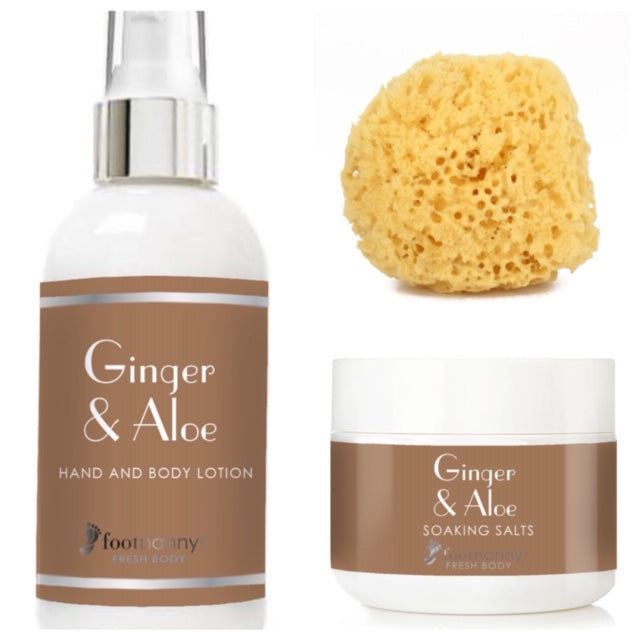 New Fresh Body Ginger Soaking Salts and Body Lotion