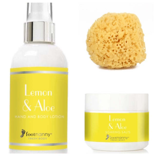 New Fresh Body Lemon Soaking Salts and Body Lotion