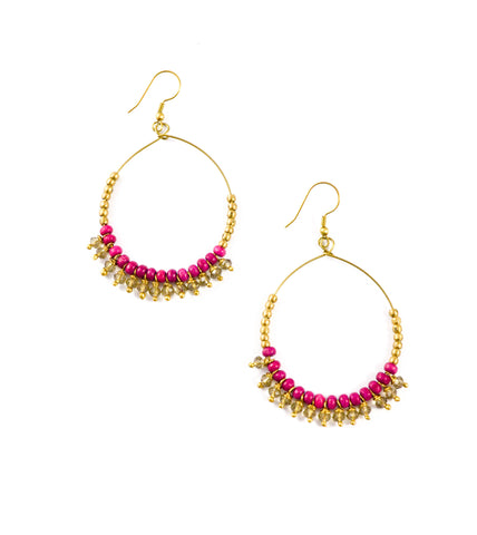 Ana Earrings - Magenta - LatchCo - 1