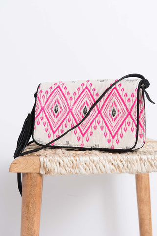 Anvi Crossbody Bag - Pink/Black - LatchCo - 1