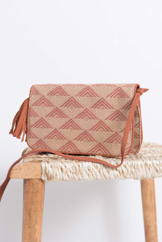 Anvi Crossbody Bag - Sepia/Rust - LatchCo