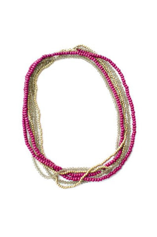 Ana Multi Strand Necklace - Magenta - LatchCo - 1