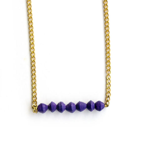 Aster Necklace - Purple - LatchCo - 1