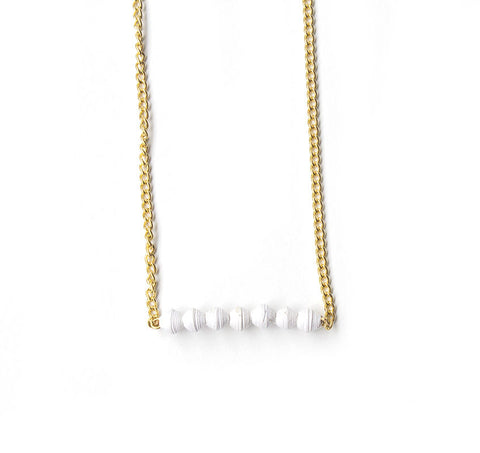 Aster Necklace - White - LatchCo - 1