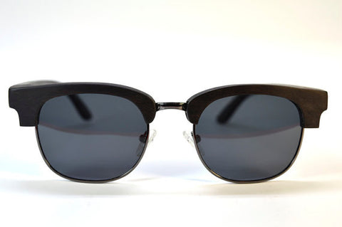 Half Frame Ebony Wood Sunglasses - LatchCo - 1
