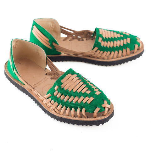 Emerald Green Huarache Sandals - LatchCo - 1