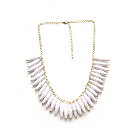 Esther Necklace - White - LatchCo - 1