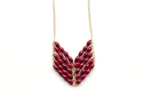 Eve Necklace - Raspberry - LatchCo - 1