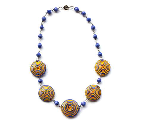 Evelyn Necklace - Purple & Yellow - LatchCo - 1