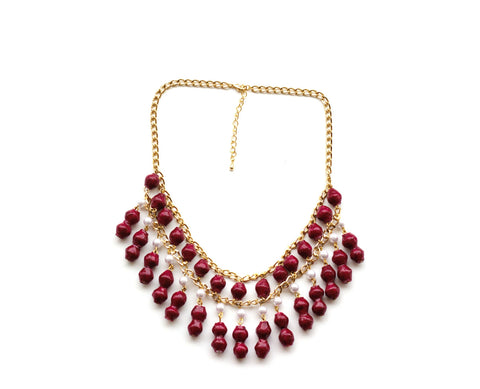 Florence Necklace - Raspberry - LatchCo - 1