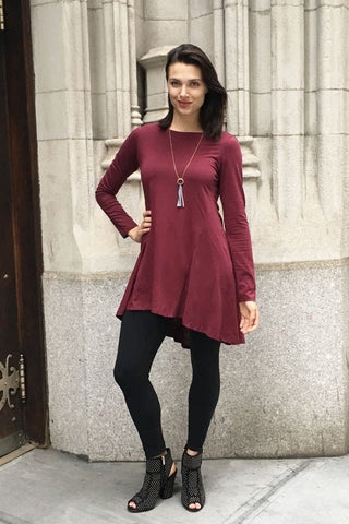 Kayla Tunic - Wine - LatchCo - 1