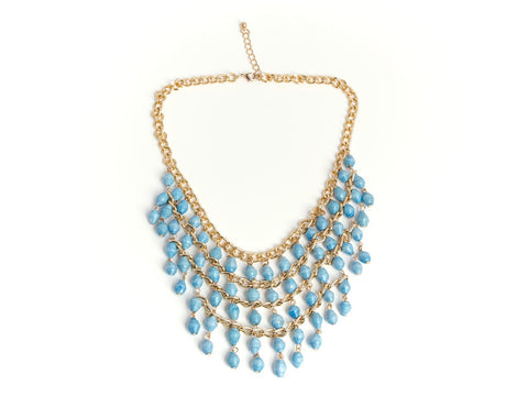 Lilian Necklace - Baby Blue - LatchCo - 1