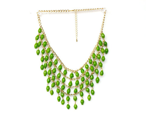Lilian Necklace - Lime Green - LatchCo - 1