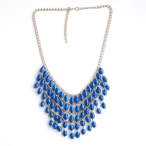 Lilian Necklace - Royal Blue - LatchCo - 1
