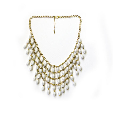 Lilian Necklace - White - LatchCo - 1