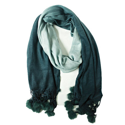 Moroccan Wool Scarf - Blue - LatchCo
