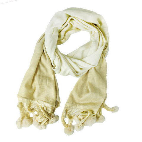 Moroccan Wool Scarf - Cream - LatchCo